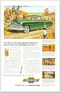 Old Chevrolet Ads