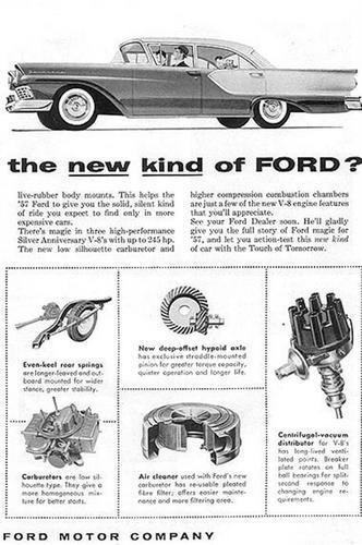 Publicidad Antigua de Ford de 1957 a 1969