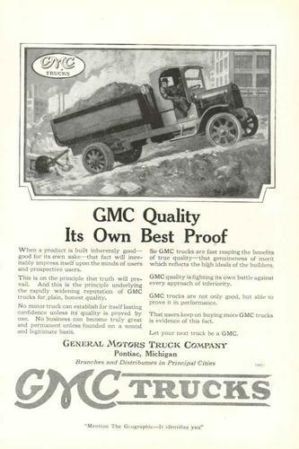 1919 GMC Truck Ad