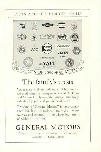 1924 General Motors Ad