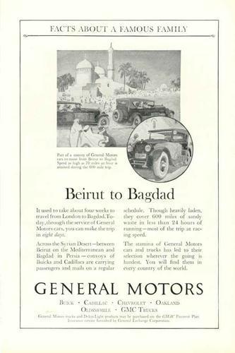 1925 General Motors Ad