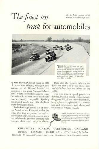 1929 General Motors Ad
